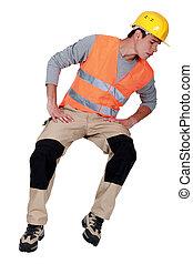 osservare giù, lavoratore costruzione