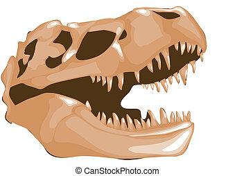 ossos, dinossauro