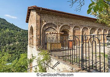 Ossuary in Old church in Medieval Bachkovo Monastery
