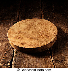 ost, gammal, trä, rustik, bord, runda