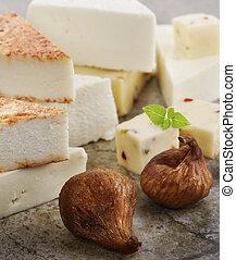 ost, torkat, fikonen