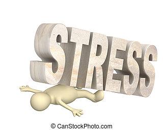 ostaggio, di, il, stress