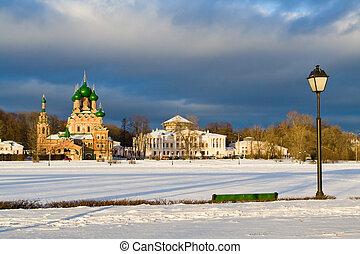 ostankinsky, ロシア, 池, モスクワ