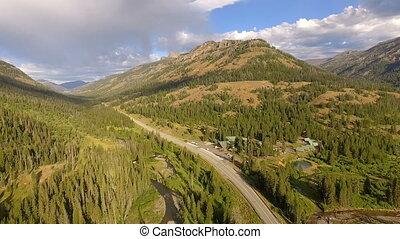 osten, eingang, yellowstone nationalpark, lamar, tal