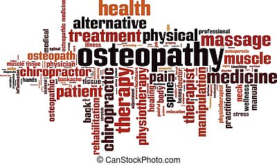 osteopathy, woord, cloud.eps
