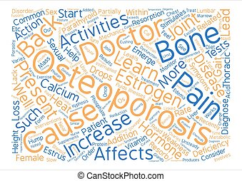 Osteoporosis and Back Pain Word Cloud Concept Text Background