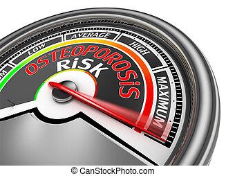 osteoporosis risk conceptual meter indicate maximum,...