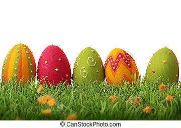 ostern, bunte, eier