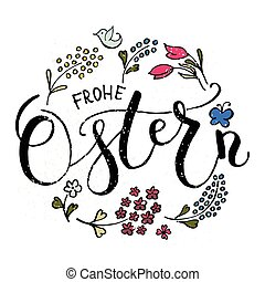 ostern, (easter, en, german), postal, tarjeta, invitación,...