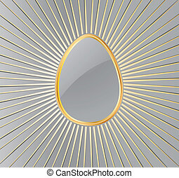ostern, egg., vektor