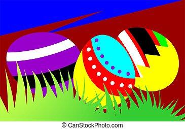 ostern gras, eier