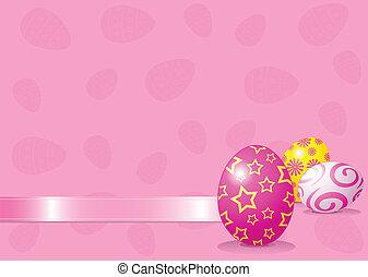 ostern, hintergrund, eier