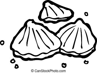 ostras, ilustración