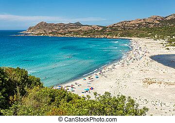 Ostriconi beach in Balagne region of Corsica - Ostriconi ...