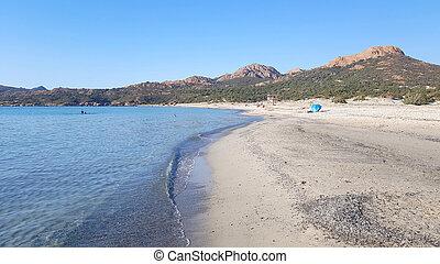 Ostriconi beach in Corsica, France