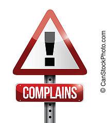 ostrzeżenie, projektować, complains, ilustracja, znak