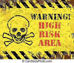 ostrzeżenie, wysokie ryzyko, powierzchnia