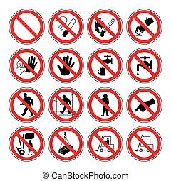 ostrzeżenie, zdrowie, bezpieczeństwo, ryzykować, &