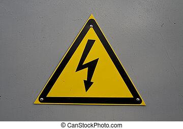 ostrzeżenie znaczą, -, elektryczność