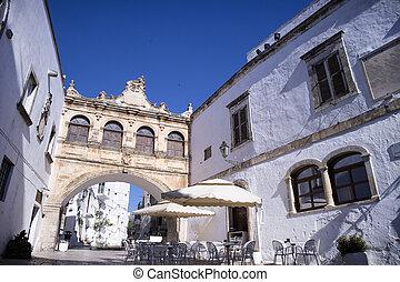 Ostuni, Paolo Giovanni square - View of Beato Paolo Giovanni...