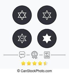 osud k david, icons., znak, o, israel.