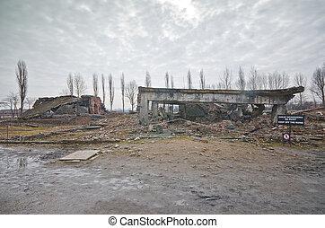 oswiecim, 波兰, auschwitz, 气体, 房间, 2, ii-birkenau, 毁灭
