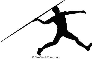 oszczep, atleta, miotacz