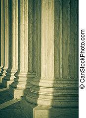 oszlop, közül, törvény, és, igazságosság