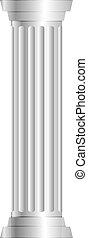 oszlop, szürke, vektor, ábra