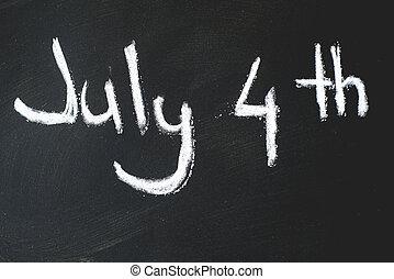 osztályterem, ...4, fekete, chalkboard, th, július