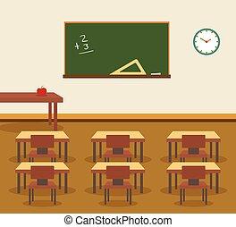 osztályterem, belső