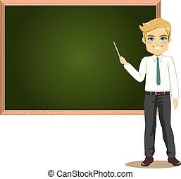 osztályterem, hím tanár