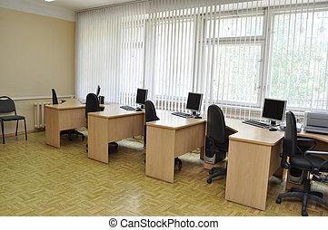 osztályterem, számítógép