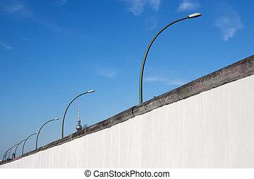 osztás, nyugat, fal, berlin, közben, hideg, kelet, háború