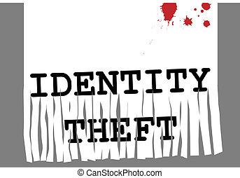 oszustwo, papier, kradzież, bezpieczeństwo, id,...