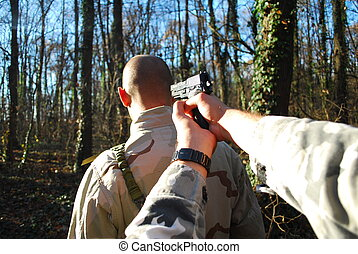 otage, gunpoint