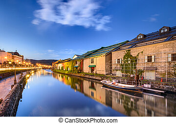 Otaru, Japan Warehouses and Canals - Otaru, Japan historic...