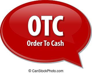 OTC acronym word speech bubble illustration