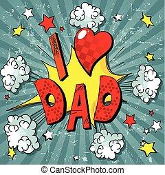 otec, den, grafické pozadí