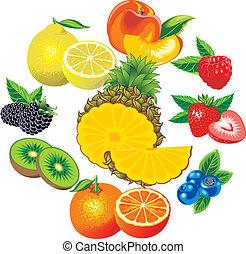 othe, オレンジ, 成果, キーウィ, パイナップル