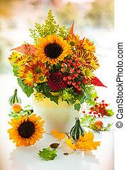 otoñal, flores