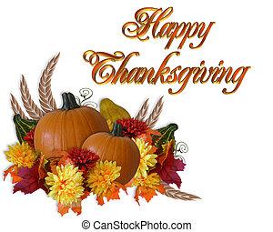 otoño, acción de gracias, plano de fondo, otoño