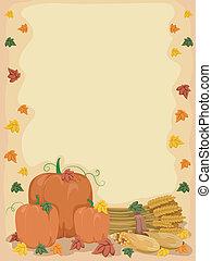 otoño, calabaza, plano de fondo