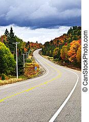 otoño, carretera