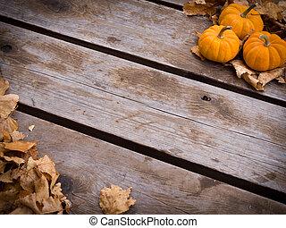 otoño, cosecha, plano de fondo