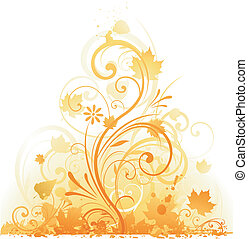 otoño, diseño floral