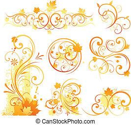 otoño, elemento del diseño