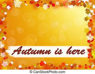 otoño, es, aquí, plano de fondo