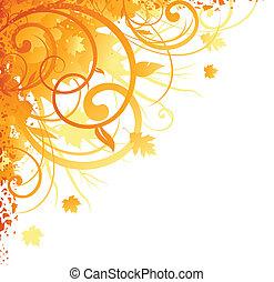 otoño, esquina, diseño
