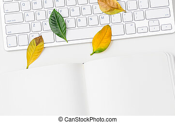 otoño, estacional, lugar de trabajo